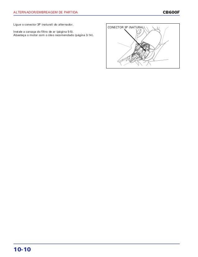 Manual de serviço cb600 f hornet alternador