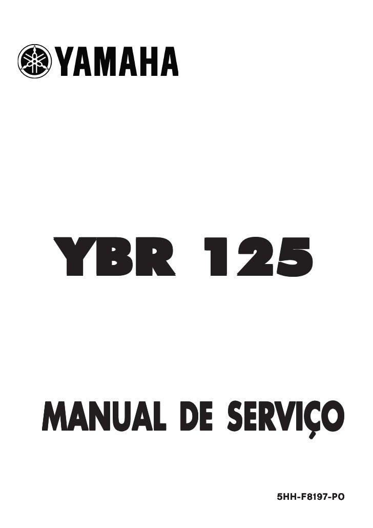 YBR 125MANUAL DE SERVIÇO             5HH-F8197-PO