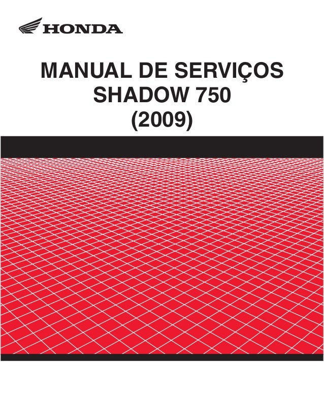 Manual de serviços shadow 750