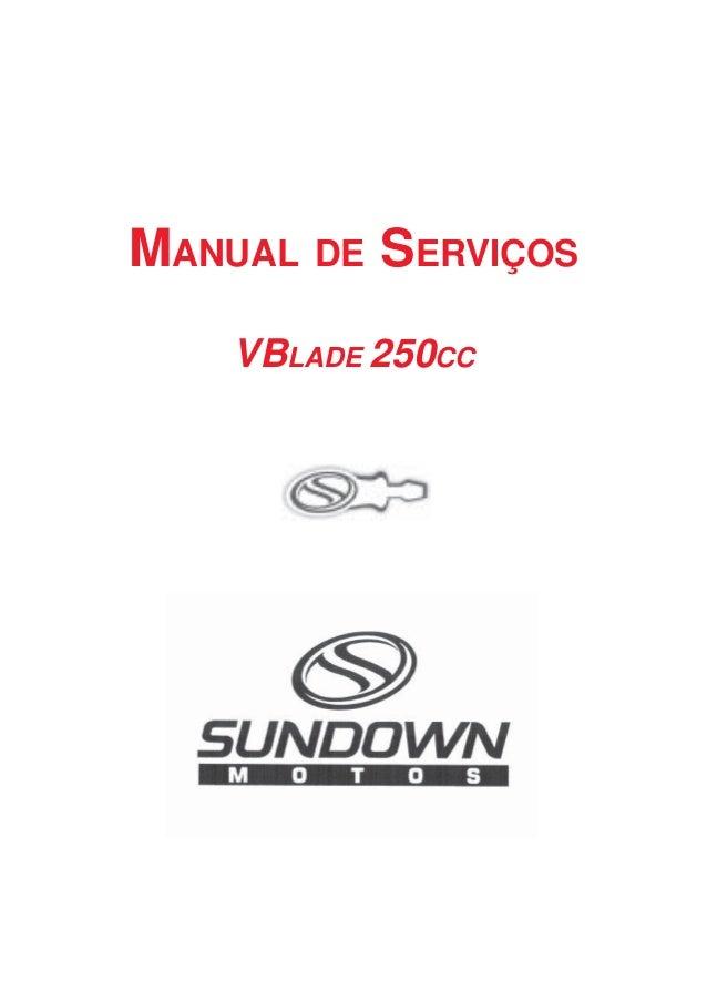 MANUAL DE SERVIÇOS VBLADE 250CC