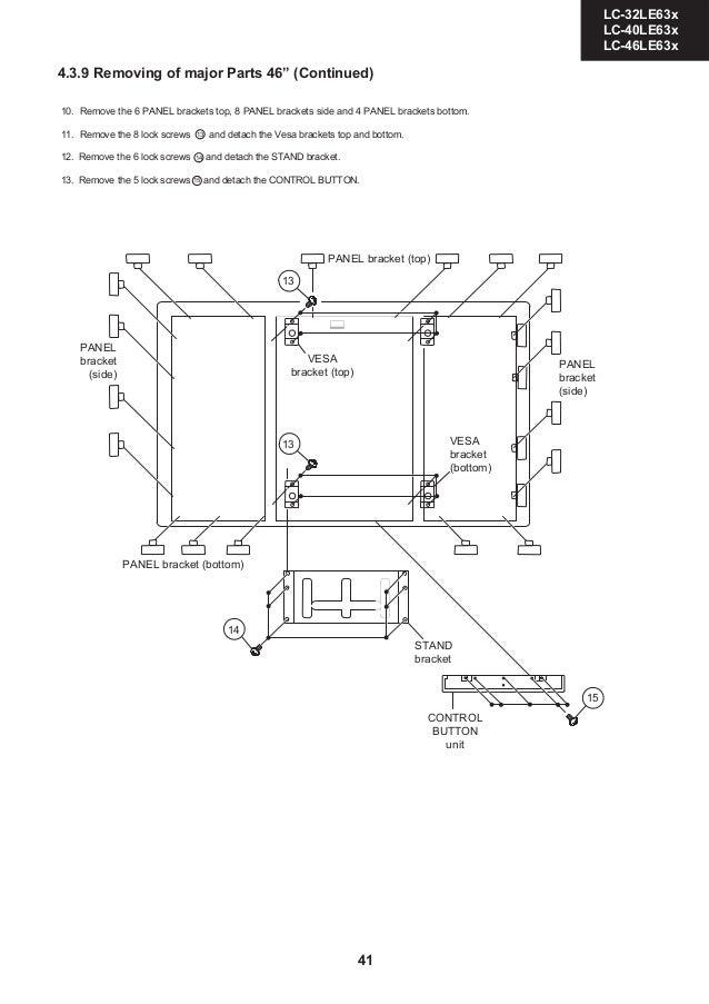 Manual de serviço TV SHARP LED/LCD diversos modelos linha LC.