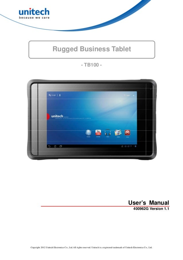 Rugged Business Tablet                                                      - TB100 -                                     ...