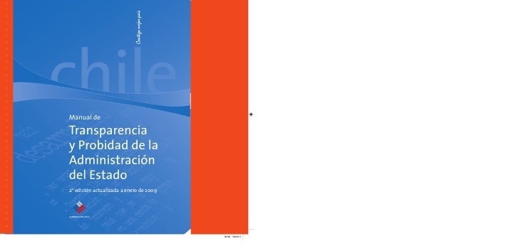 Manual de transparencia y probidad del estado