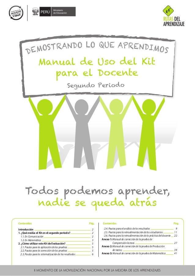MANUAL DE USO  DEL KIT PARA  EL DOCENTE