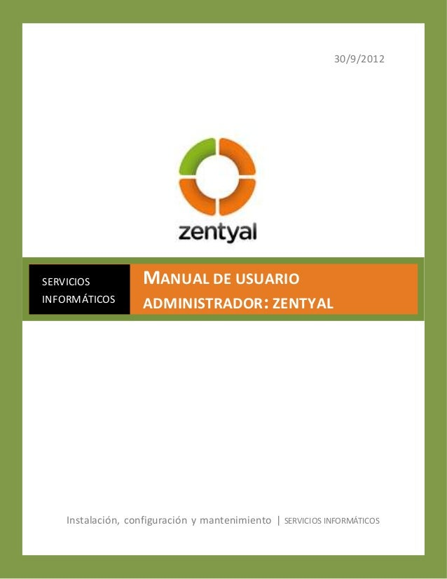 Manual de usuario zentyal
