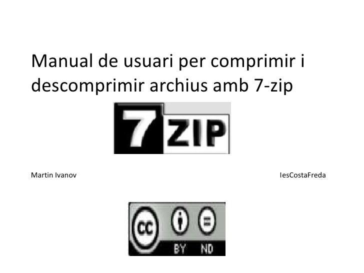 Manual de usuari per comprimir i descomprimir archius