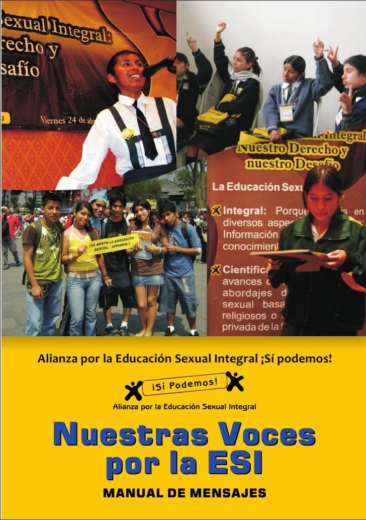 Alianza por la Educación Sexual Integral ¡Sí podemos!                                        s!                        ¡S ...
