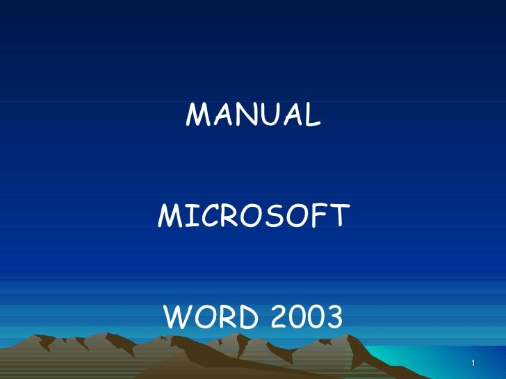 Manual de word 2003