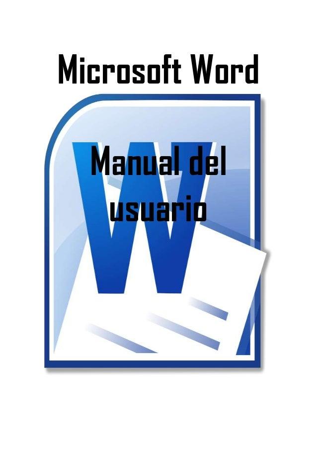 Microsoft Word Manual del usuario