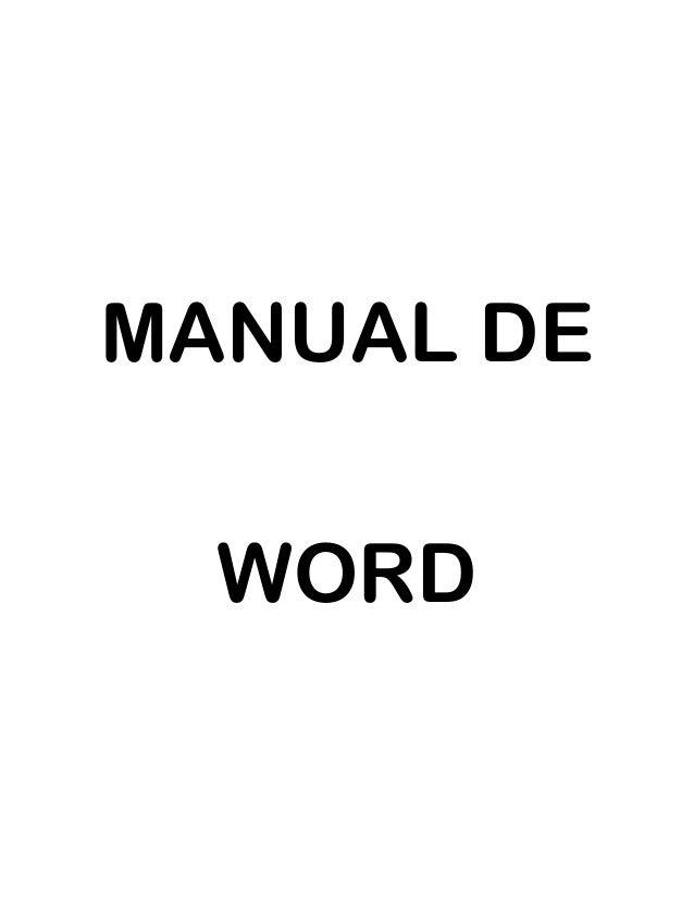 MANUAL DE WORD