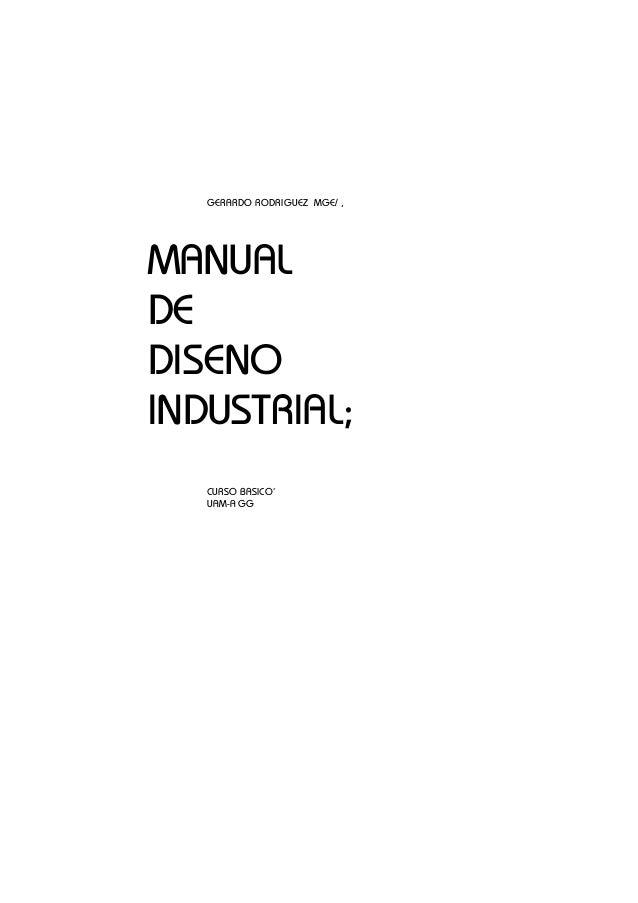 Manual de Diseño Industrial - UAM Azcapotzalco México