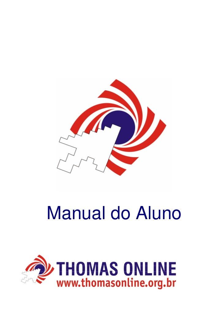 Manual do aluno   online courses