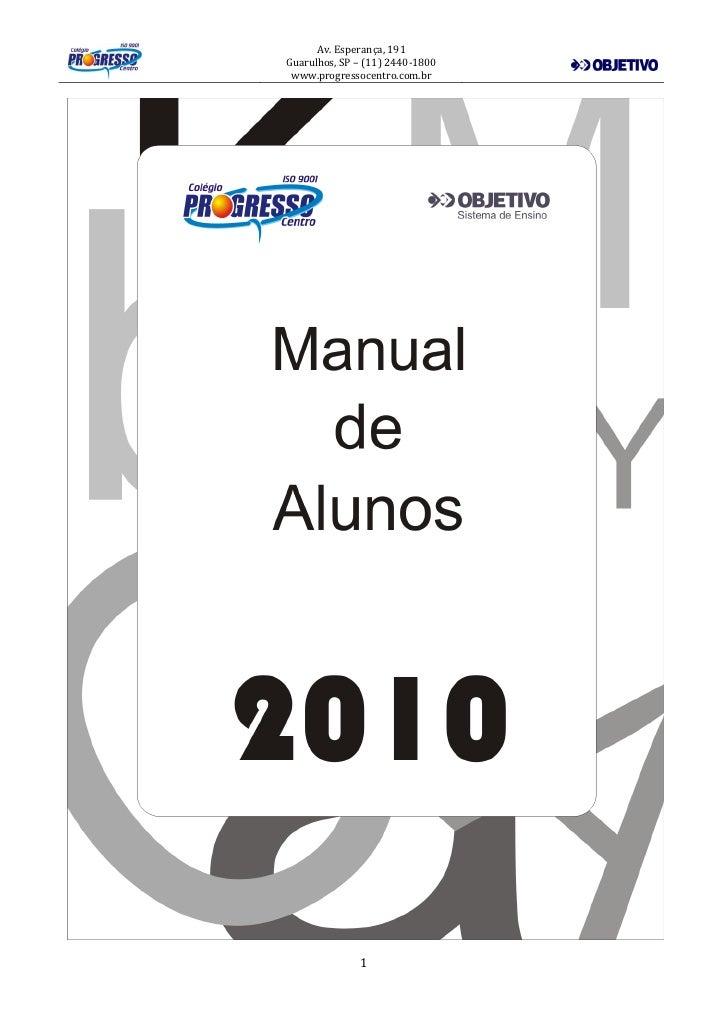 Manual Do Aluno 2010