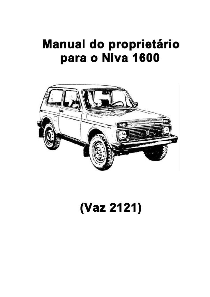Manual do proprietário   para o Niva 1600           (Vaz 2121)