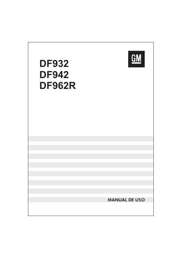 DF932 DF942 DF962R MANUAL DE USO