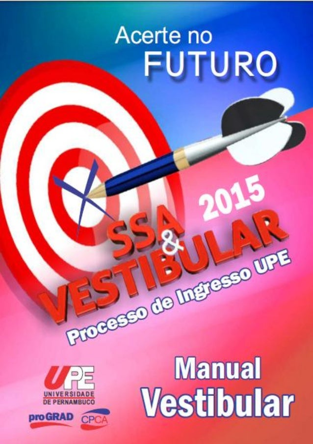 Manual do vestibular UPE 2015 (1)