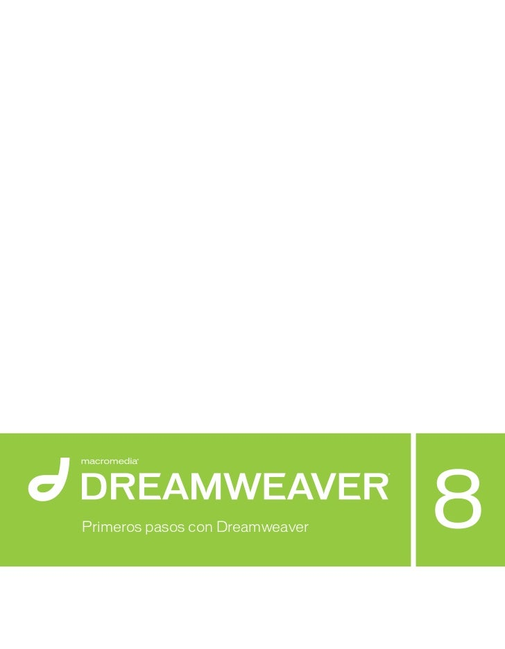 Manual dreamweaver 8 spanish