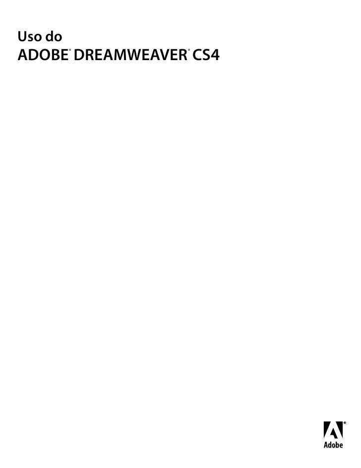Uso do         ®       ®ADOBE DREAMWEAVER CS4