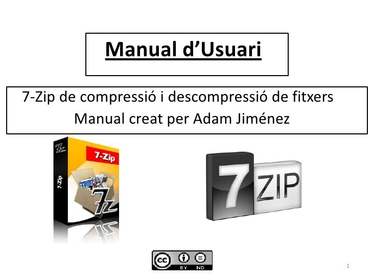 Manual d'usuari 7 zip