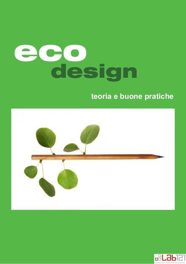Eco Design, teoria e buone pratiche