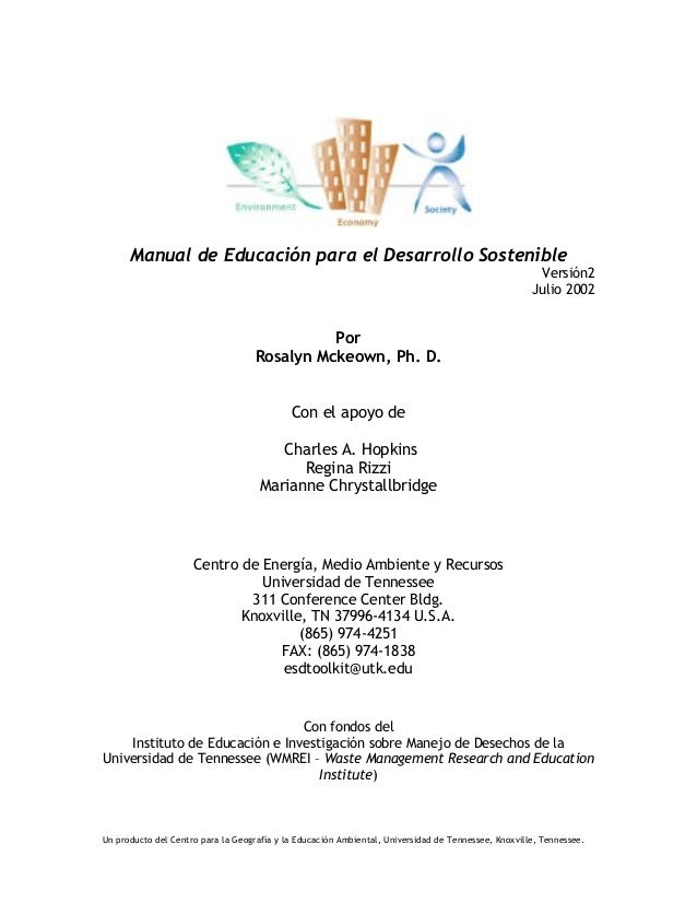 Manual educacion