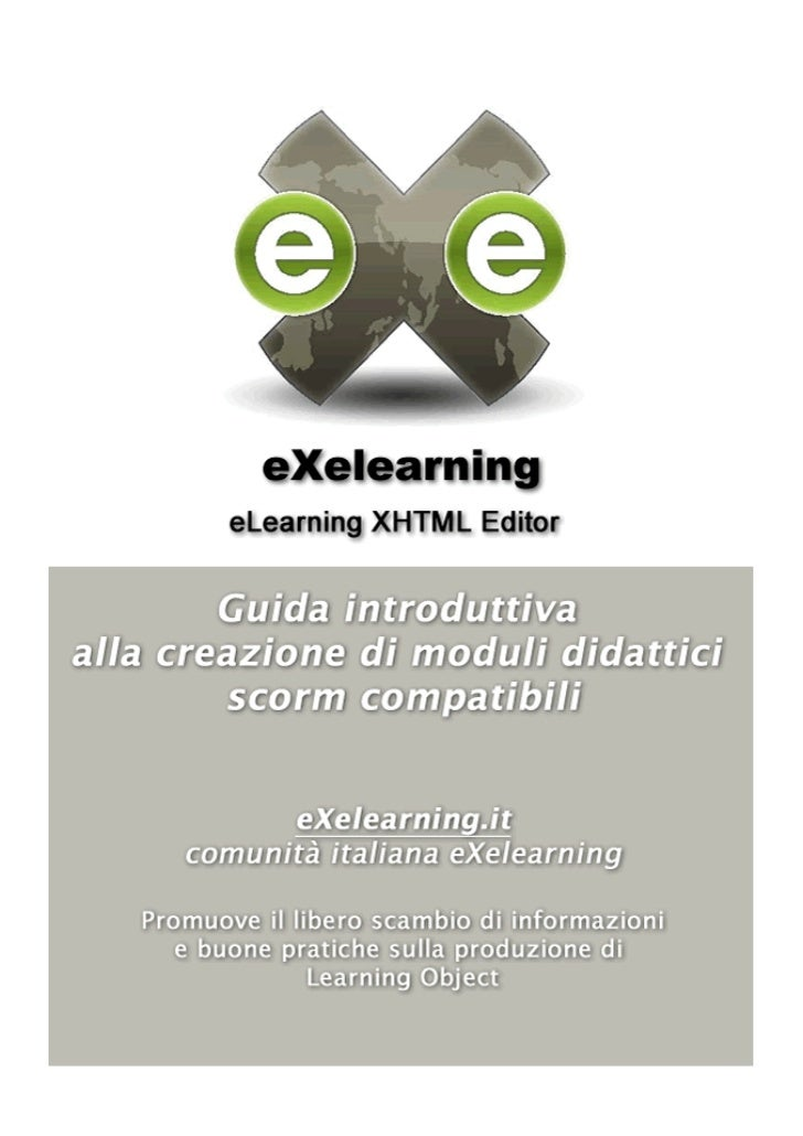 Manuale introduttivo eXelearning