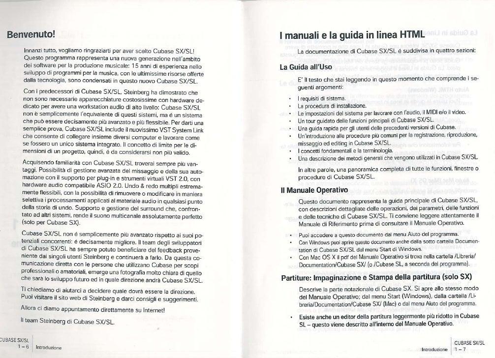 Manuale Italiano Cubase Sx