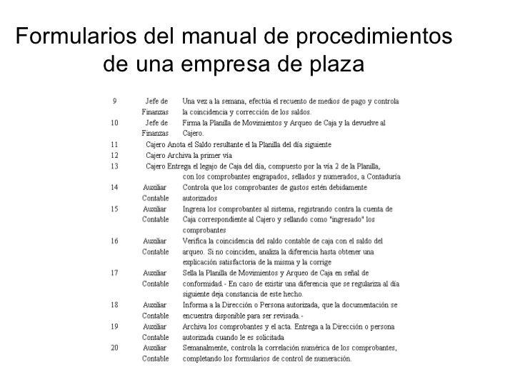 Manuales administrativos for Manual de procedimientos de una empresa de alimentos