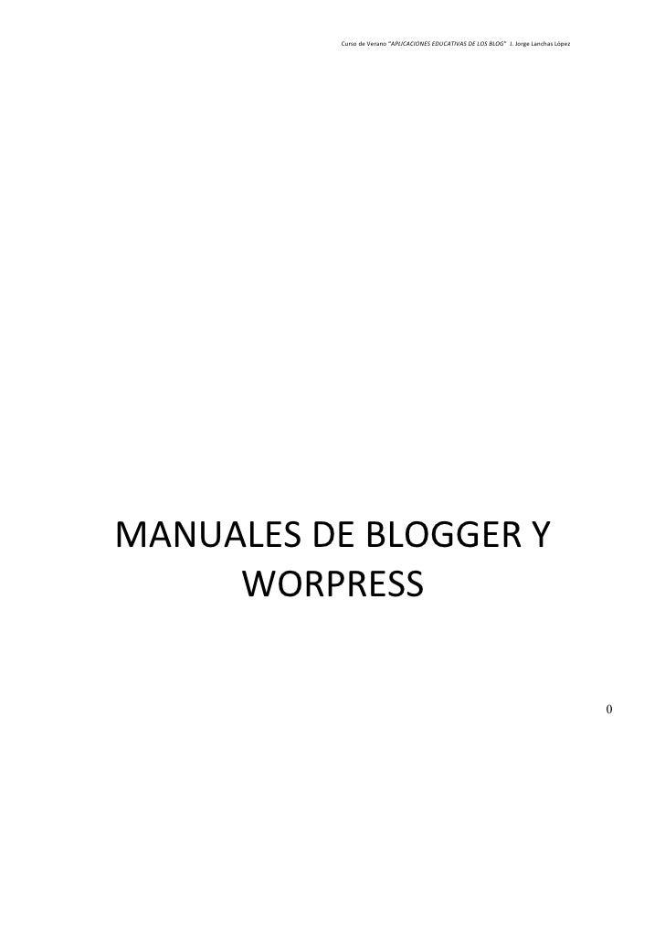 Manuales De Blogger Y Worpress