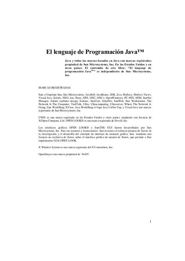 Manuales lenguaje de programación java el lenguaje de programación java nxt