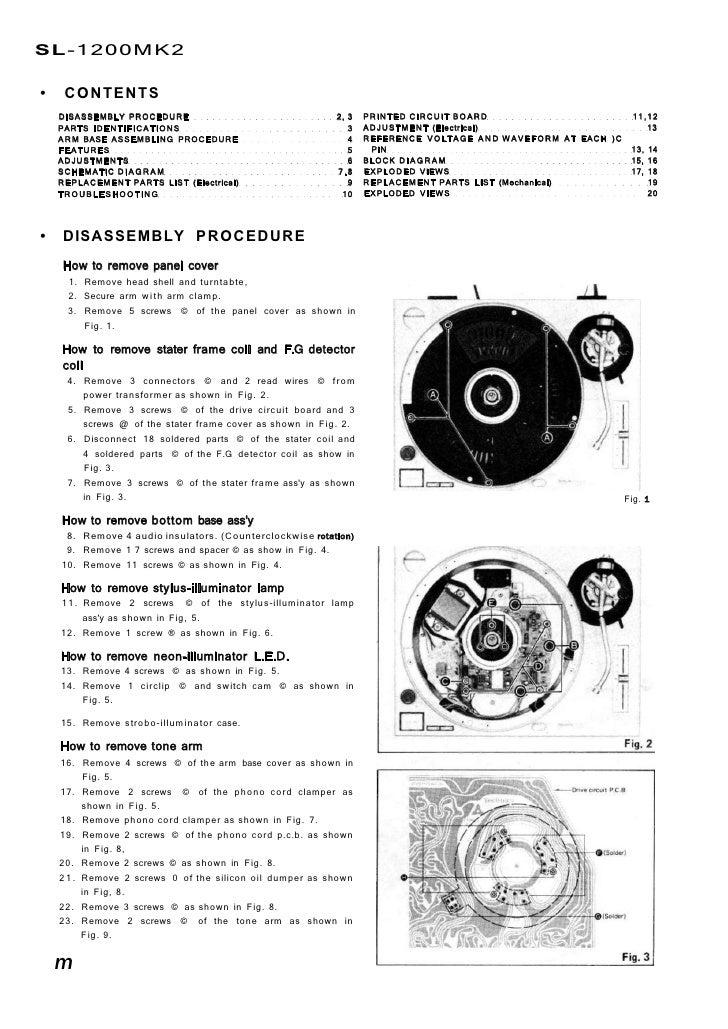 manuale technics sl1200 1ma pt