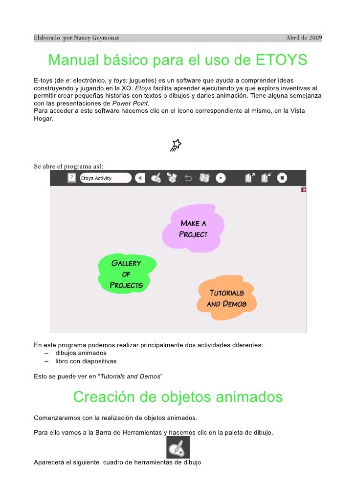 Elaborado por Nancy Geymonat                                                         Abril de 2009       Manual básico par...