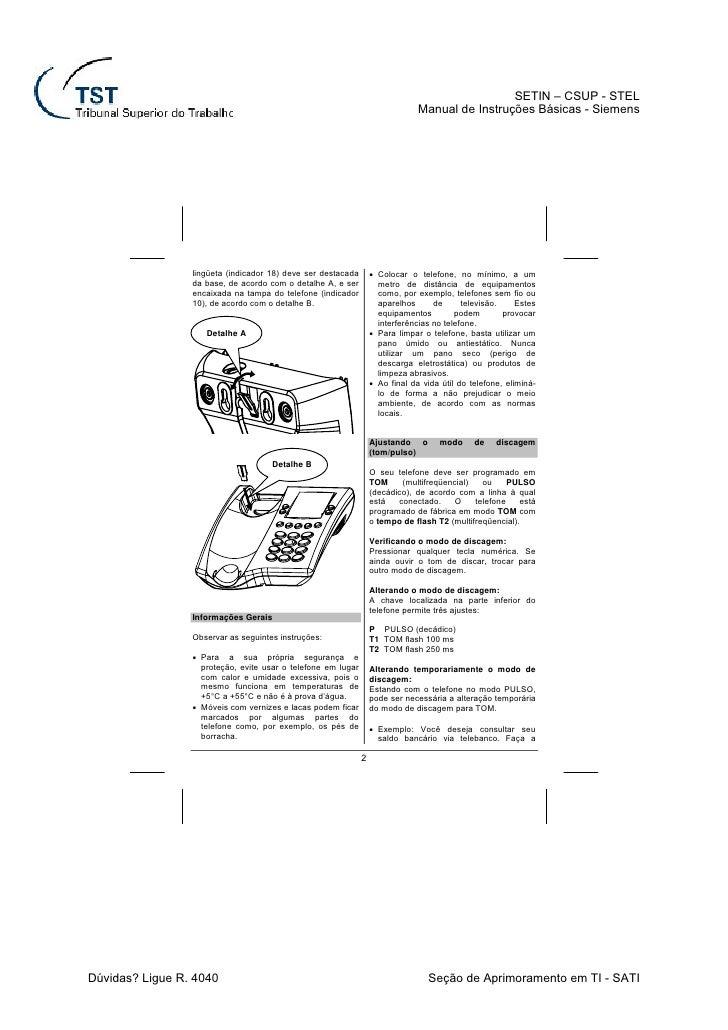 Siemens Euroset 822 User Manual - WordPresscom