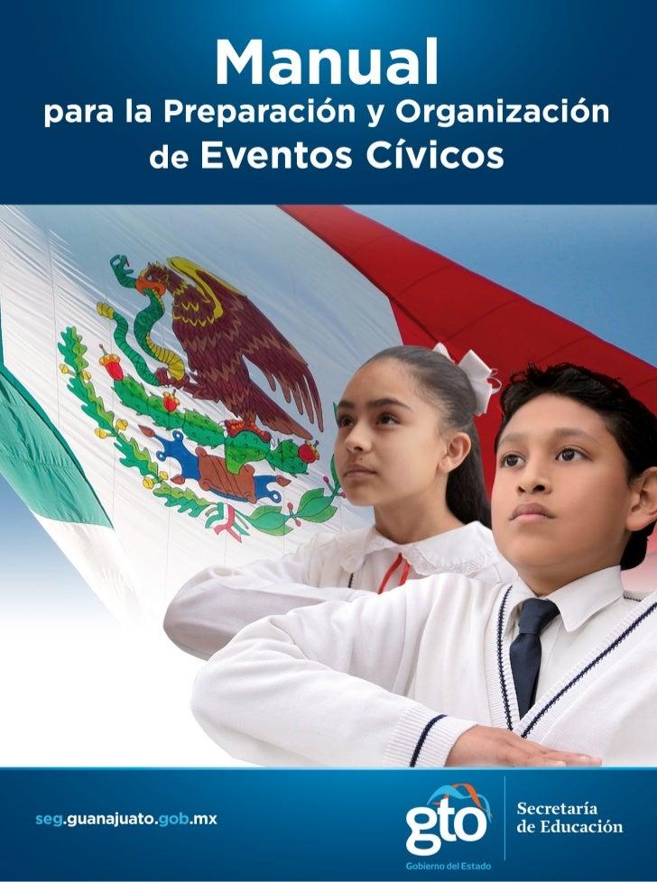 Manual para eventos cívicos en Guanajuato