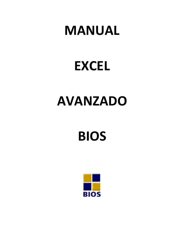 MANUAL       EXCEL     AVANZADO        BIOS