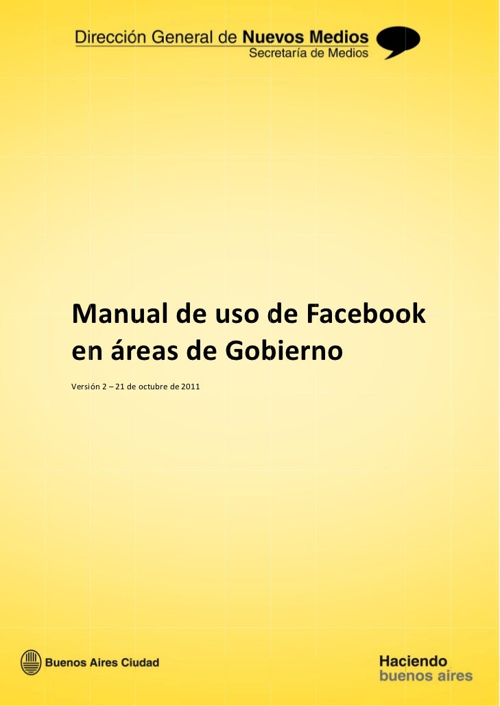 Manual de uso de Facebook en Gobierno