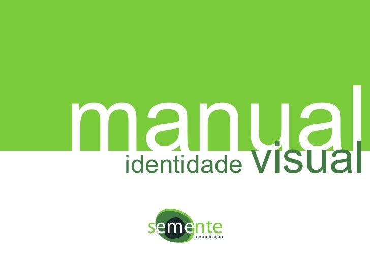 manual    visual  identidade    semente       comunicação
