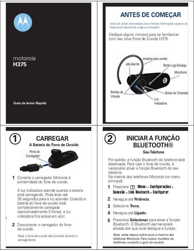 ANTES DE COMEÇAR Antes de utilizar este produto, leia o folheto Informações Legais e de Segurança Importantes e siga as in...