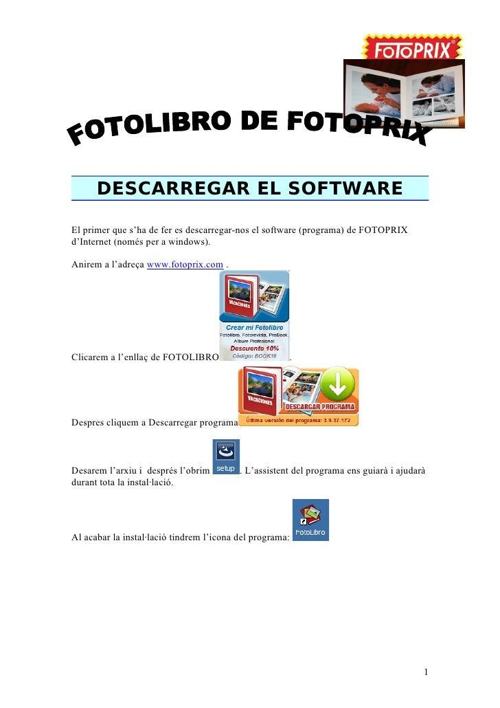 Manual fotollibre amb fotoprix