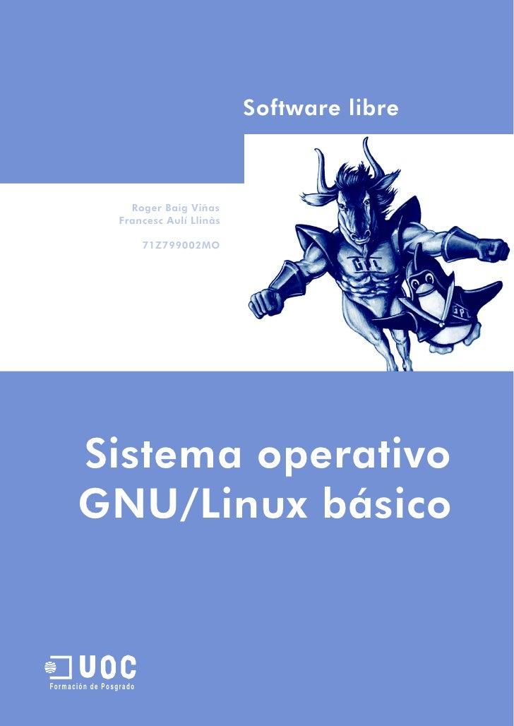 Software libre                   Roger Baig Viñas                 Francesc Aulí Llinàs                        71Z799002MO ...