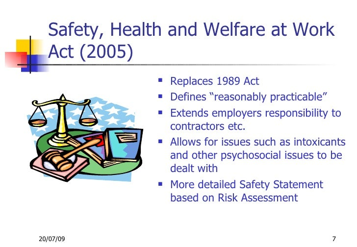 essay on safety health and welfare We review evidence for the health benefits associated with education in the   health promotion programs and policies that protect occupational safety also play .