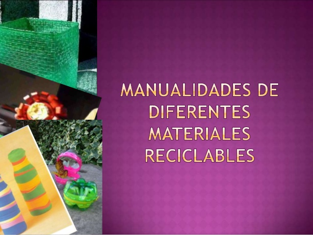 Materiales De Manualidades