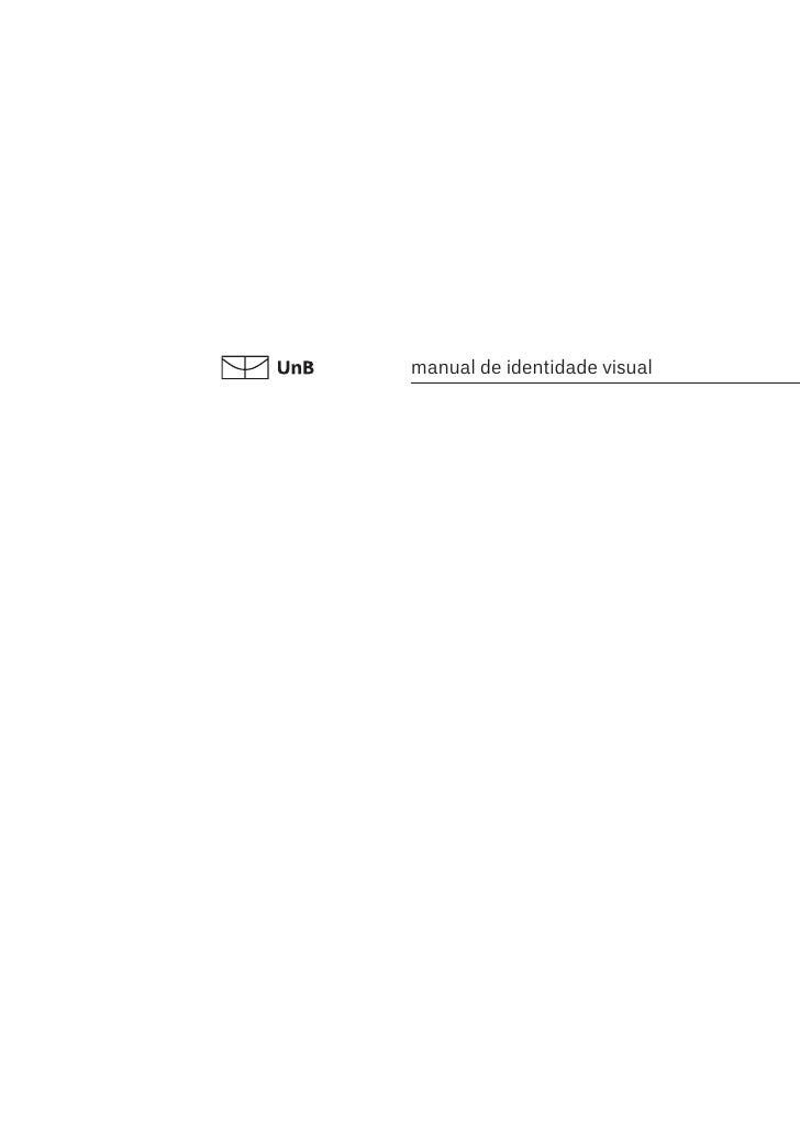 Manual identidade visual UnB