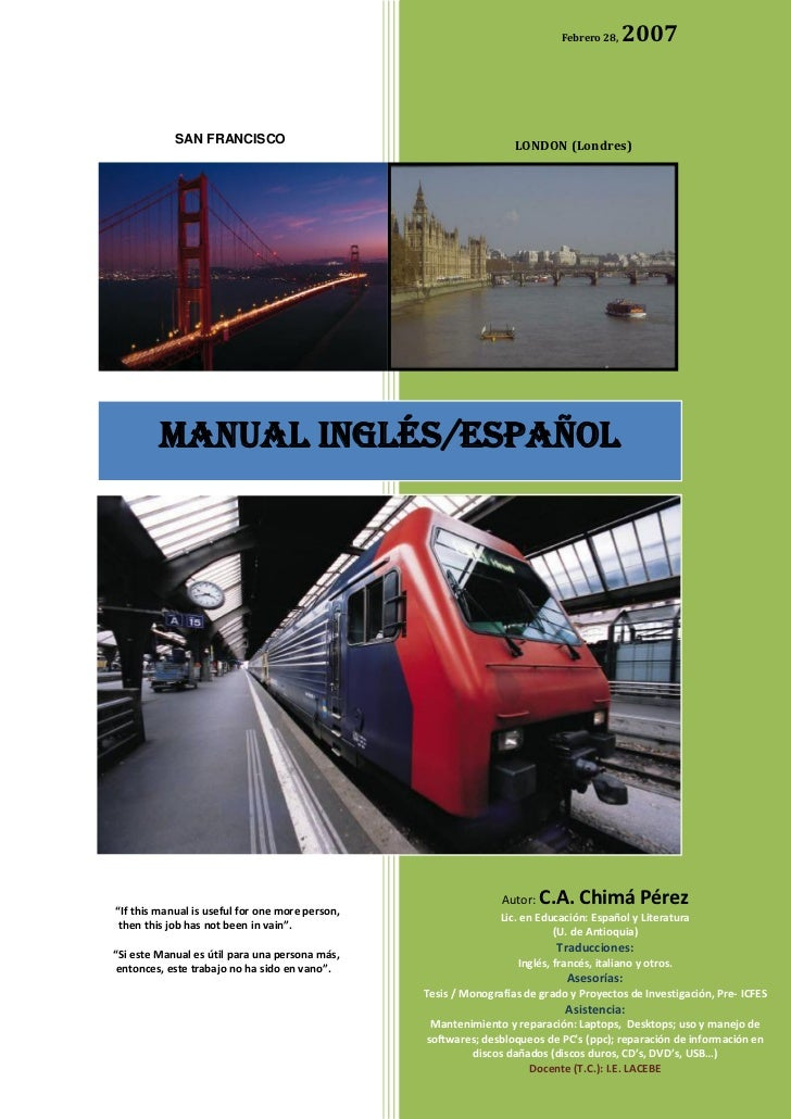 Manual ingles espanol