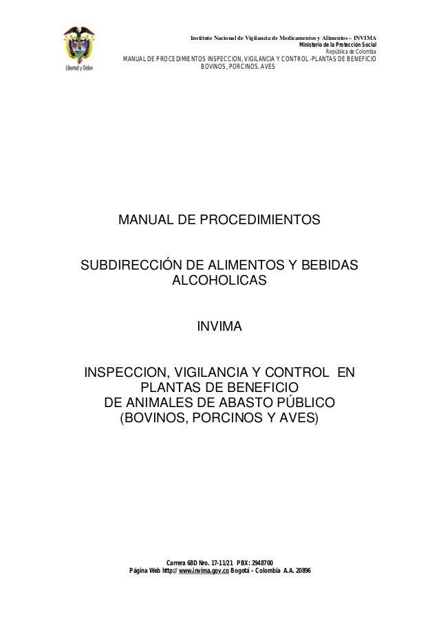 Instituto Nacional de Vigilancia de Medicamentos y Alimentos – INVIMA                                                     ...