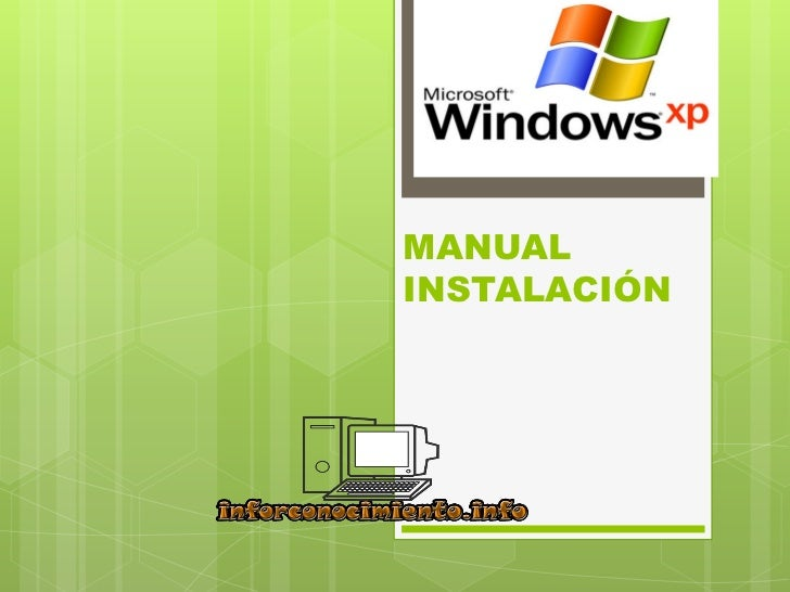Manual instalación windows xp new