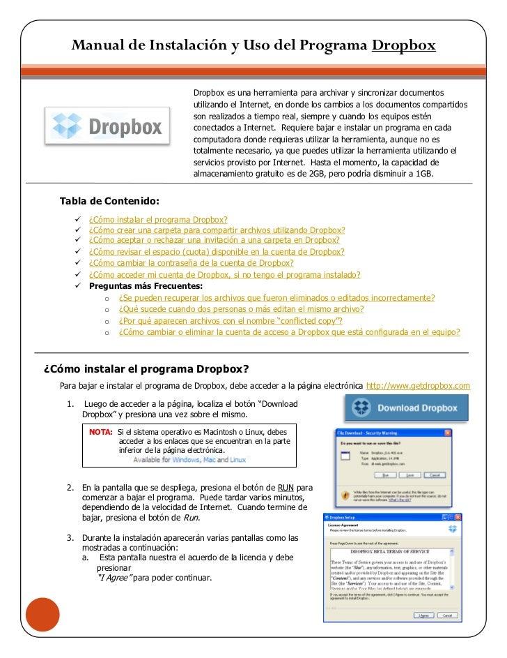 imi        Manual de Instalación y Uso del Programa Dropbox                                           Dropbox es una herra...