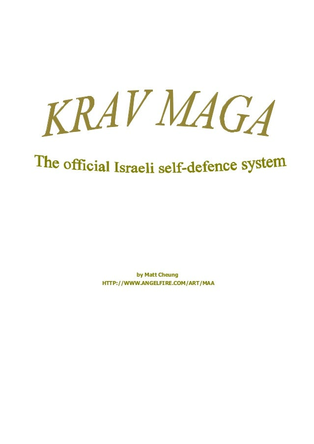 Manual krav maga ingles
