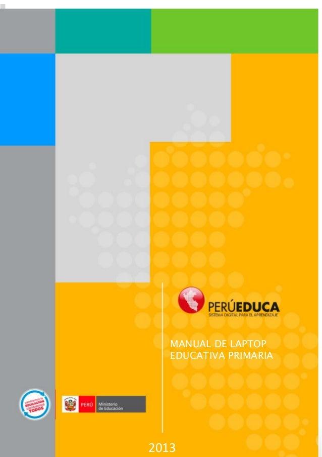 Manual laptop educativa primaria