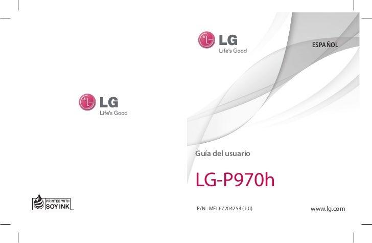 ESPAÑOLGuía del usuarioLG-P970hP/N : MFL67204254 (1.0)   www.lg.com